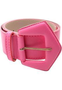 Cinto Birô Básico Duas Costuras Feminino - Feminino-Pink