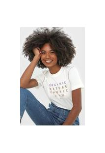Camiseta Forum Lettering Off-White