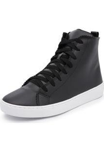 Sapatênis Cano Alto Top Franca Shoes Preto