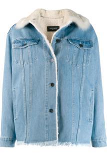 Simonetta Ravizza Jaqueta Jeans Oversized - Azul