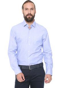 Camisa Richards Reta Traveller Azul