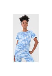 Camiseta Costa Rica Tie Dye Azul
