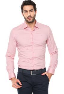 Camisa Ellus Slim Rosa
