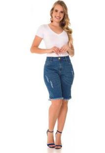 Bermuda Jeans Express Analu Feminina - Feminino