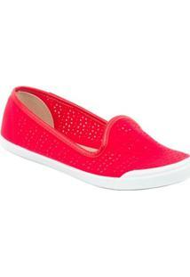 Tênis Moleca Slipper Vazado - Feminino-Vermelho