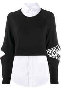 Karl Lagerfeld Vestido Esportivo Com Recortes - Preto