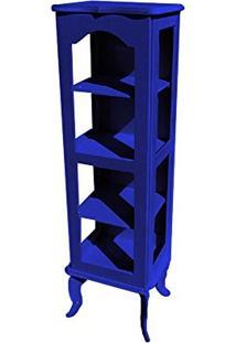 Cristaleira Colonial 1 Porta Atz122 - Azul Royal