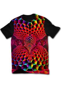 Camiseta Manga Curta Stompy Psicodelica 58 Preto