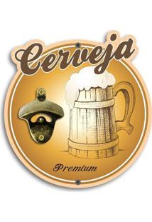 Abridor De Garrafas De Parede Cerveja Premium Único