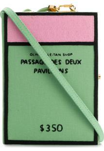 Olympia Le-Tan Bolsa Clutch 'Passage Des Deux Pavillons' - Green