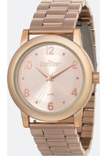 Kit Relógio Feminino Condor Co2035Mqr/T8J Analógico 5Atm + Pulseira Extra