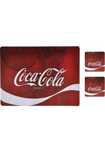 Jogo Americano E Porta Copos Coca-Cola Wave