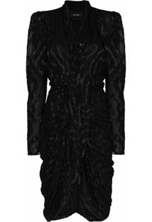 Isabel Marant Vestido Midi Atoae - Preto