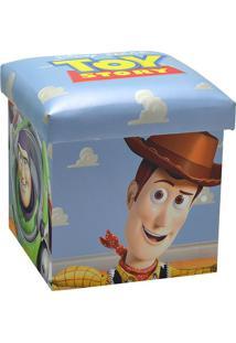Puff Toy Story®- Azul Claro & Off White- 40X38X38Cm