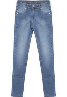 Calça Jeans Fashion - Jeans Aleatory Feminina - Feminino-Azul