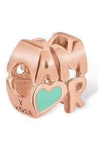 Pingente Life Amor Verde Com Banho Ouro Rosé