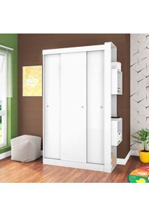 Guarda-Roupa Com 3 Portas S/Espelho Doce Cheiro – Art In Móveis - Branco