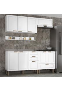 Cozinha Completa 5 Peã§As Americana Multimã³Veis 5915 Branco - Branco/Incolor - Dafiti