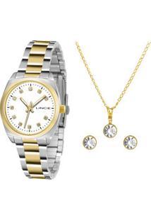 Kit Relógio Feminino Lince Lrth035L K256B1Sk