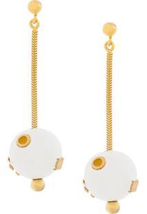 Marni Sphere-Drop Earrings - Branco