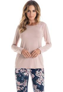 c722c3c3d6d3bd Pijama Elisa Longo Rosa Envelhecido/Xg