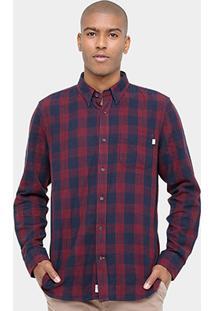 Camisa Xadrez Timberland Ls Lw Plaid Cargo Masculina - Masculino
