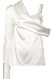 Monse Blusa Assimétrica - Branco