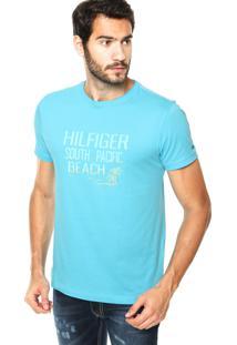 Camiseta Tommy Hilfiger Beach Azul