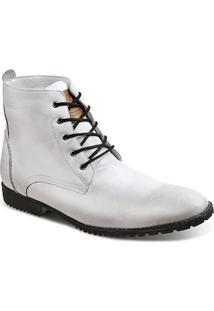 Bota Dress Boot Masculina Sandro Moscoloni All White