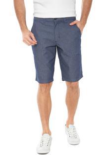 Bermuda Jeans Aramis Reta Estampada Azul