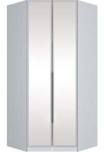 Armário Urban Canto Closet 2 Portas C/ Espelho, Padrao - Branco Hp