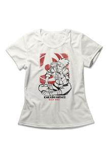 Camiseta Feminina Kakashi Hatake Off-White