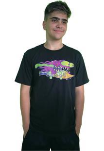 Camiseta Santa Cruz Slasher Neon 2018 Preta