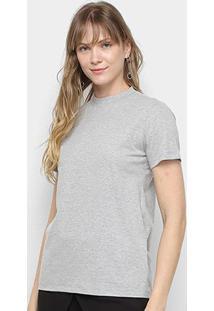 Camiseta Colcci Alongada Estampa Costas Feminina - Feminino-Mescla