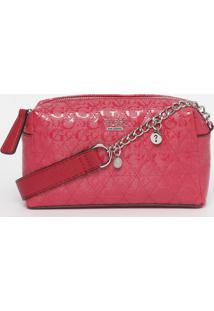 Bolsa Transversal Em Matelassãª- Pink- 15X22X5,5Cm