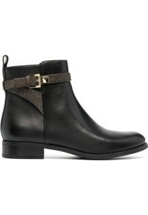 Michael Michael Kors Ankle Boot Fanning Com Fivela - Preto