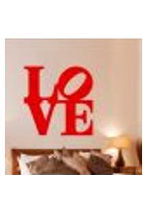 Adesivo De Parede Cabeceira Love 8 - Médio