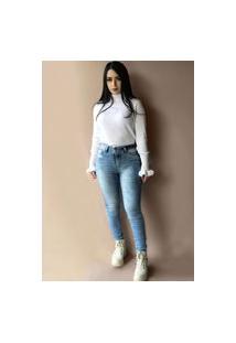 Calça Jeans Vale West Skinny Azul Claro
