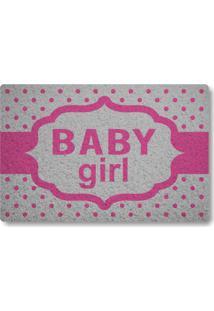 Tapete Capacho Baby Girl - Prata