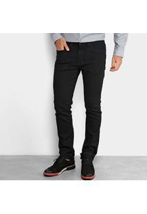 Calça Jeans Slim Calvin Klein Lavagem Escura Straight Masculina - Masculino