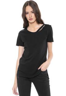 Camiseta Calvin Klein Jeans Mullet Preta