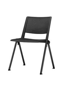 Cadeira Up Base Fixa Preta - 54286 Preto