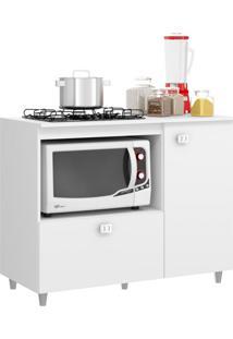 Balcão De Cozinha Para Cooktop Khloe 2 Pt Branco