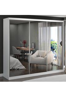 Guarda-Roupa Casal 3 Portas Com 3 Espelhos 100% Mdf 1904E3 Branco - Foscarini
