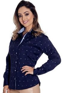 Camisa Pimenta Rosada Navy - Feminino-Marinho