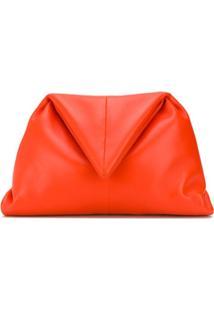 Bottega Veneta Clutch Triangular - Laranja