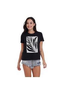 Camiseta Jay Jay Basica Tropical Preta