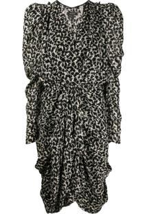 Isabel Marant Issolya Leopard-Print Ruched Dress - Branco