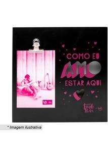 Porta Retrato Taciele- Preto & Rosa- Tamanho Da Fotoludi
