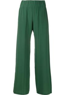Aspesi Pull-On Wide-Leg Trousers - Verde